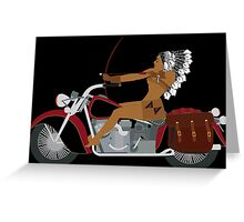 Indian Rider Greeting Card