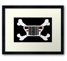 Jeep and Crossbones Framed Print