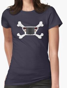 Jeep and Crossbones Womens Fitted T-Shirt