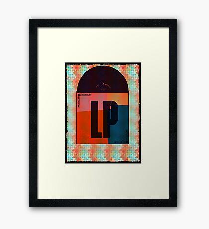 Vinyl Record Love Framed Print