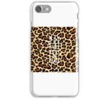 May The Hype Rest In Peace - CHEETAH iPhone Case/Skin