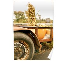Farmer Loads his Pumpkins Poster