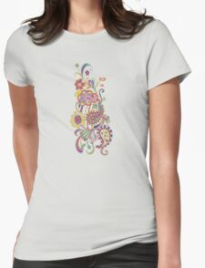 Paisley; Abstract Digital Vector Art Womens Fitted T-Shirt
