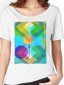 Abstract Vinyl Record Turntable Women's Relaxed Fit T-Shirt