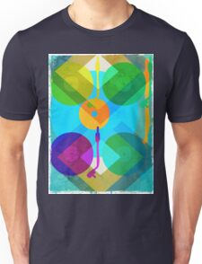 Abstract Vinyl Record Turntable Unisex T-Shirt