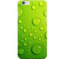 Green Rain Drops; Vector Art iPhone Case/Skin