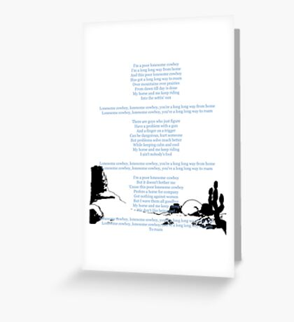 Lucky Luke fin scene with ending credits Greeting Card