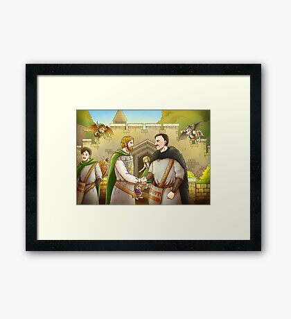 Robin Hood And The Captain Of The Guard Framed Print