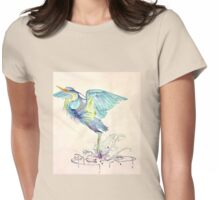 Blue Heeon Womens Fitted T-Shirt