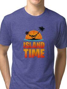 Jimmy Buffett Island Time  Tri-blend T-Shirt