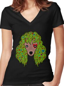 Doodle Dogd STAR Women's Fitted V-Neck T-Shirt