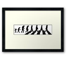 The Beatles - Evolution #9 (Black) Framed Print