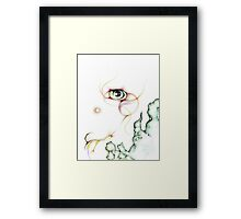 Colorful Nebula Eyeball Colored Pencil Framed Print