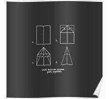Paper Airplane 47 Poster