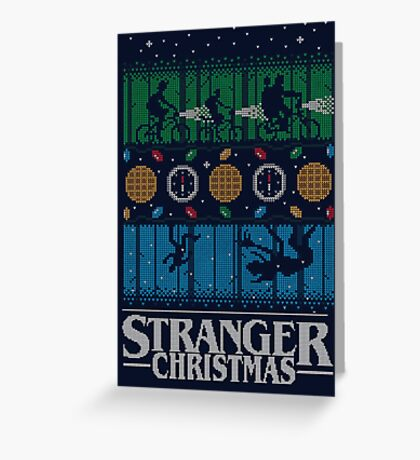 Stranger Things Ugly Sweater Greeting Card