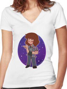Nerd Alert Women's Fitted V-Neck T-Shirt