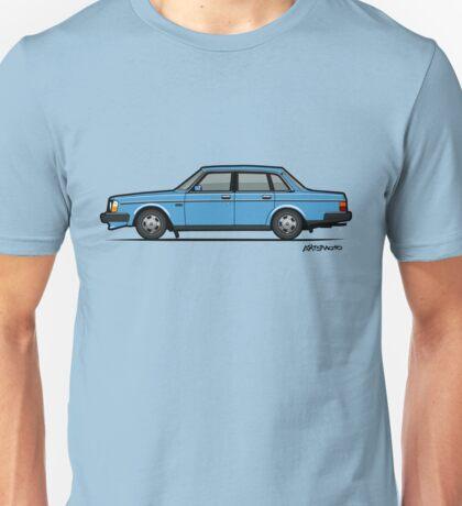 Volvo Brick 244 240 Sedan Brick Blue Unisex T-Shirt