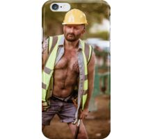 Troy T Scott- Construction Man iPhone Case/Skin
