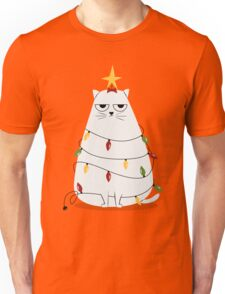 Grumpy Christmas Cat Unisex T-Shirt
