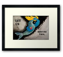 Fight Fish Framed Print