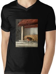 House Finch in Montana Mens V-Neck T-Shirt