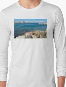 Barcelona sea landscape Long Sleeve T-Shirt