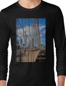 Brooklyn Bridge, New York, USA. Long Sleeve T-Shirt