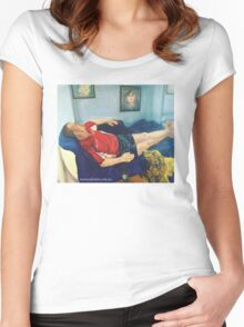 Self portrait with hubby Women's Fitted Scoop T-Shirt