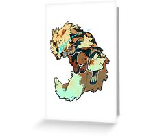 Fighting Arcanine  Greeting Card