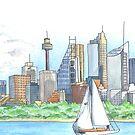Sydney Watercolour by Kezzarama