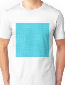 Turquoise Blue Geometric Patterns Unisex T-Shirt