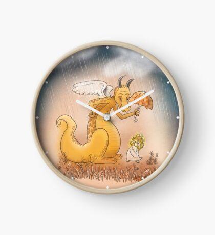 Golden Dragon protecting the Princess Clock