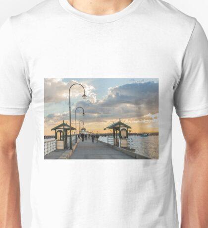 St Kilda pier sunset Unisex T-Shirt