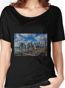 Brooklyn Bridge, New York, USA. Women's Relaxed Fit T-Shirt