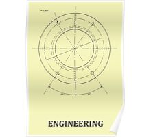 Engineering Blueprint (Classic) Poster
