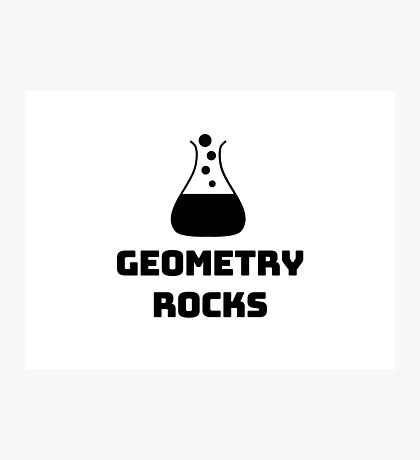 Geometry Rocks Photographic Print
