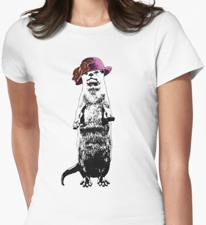 I Really Otter Be Going Now Womens Fitted T-Shirt