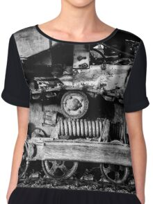 Vintage Caterpillar Tracks Chiffon Top