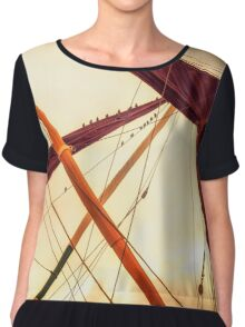 Masts of Yacht Chiffon Top
