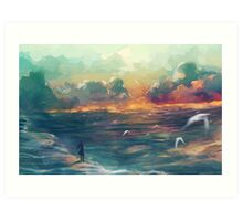 The girl who loved the sea Art Print