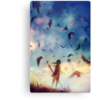 Flock Canvas Print