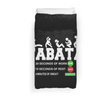 Tabata Cardio Bootcamp Workout T-Shirt Duvet Cover