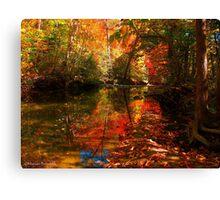 Molten Fall Canvas Print