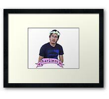 Markiplier (Level: Flower crown) Framed Print