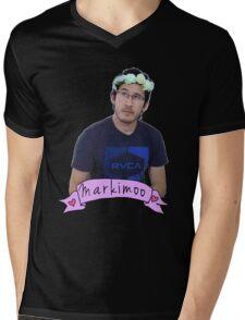 Markiplier (Level: Flower crown) Mens V-Neck T-Shirt