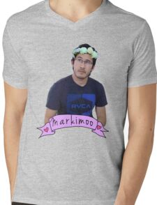 Markiplier (Level: Flower crown) Mens V-Neck T-Shirt