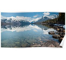 When the Sun Shines on Glacier National Park Poster
