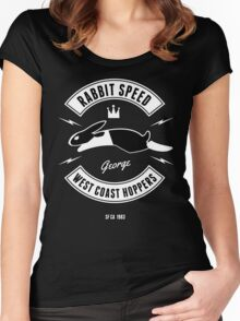 Rabbit Speed George Two Women's Fitted Scoop T-Shirt