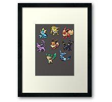 Pixel Eeveelutions V.2 Framed Print