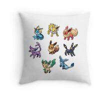 Pixel Eeveelutions V.2 Throw Pillow